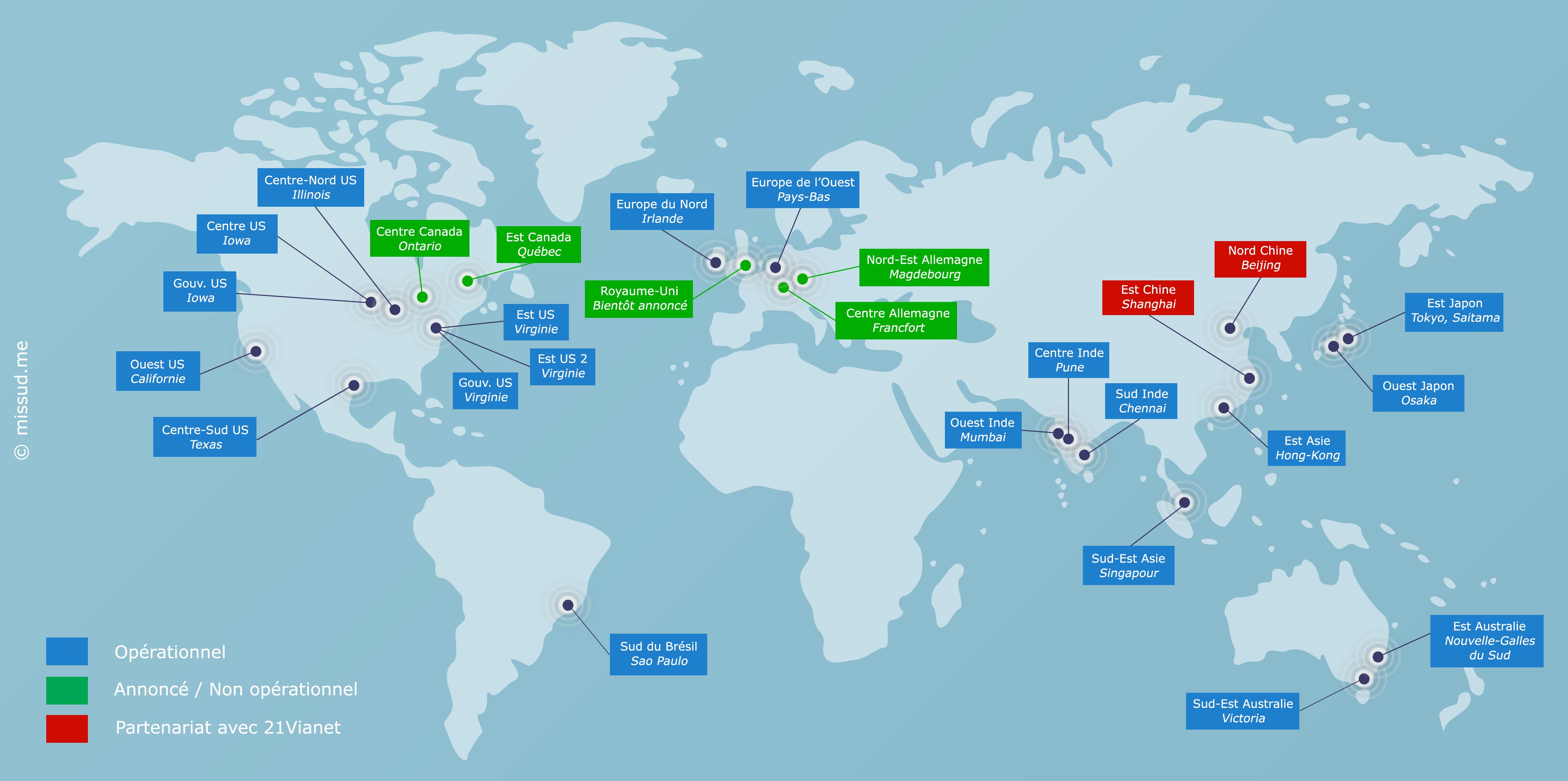 Centre de données Microsoft Azure - Mars 2016